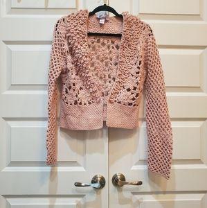 Knit pink cardigan